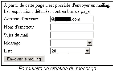 Créer campagne emailing
