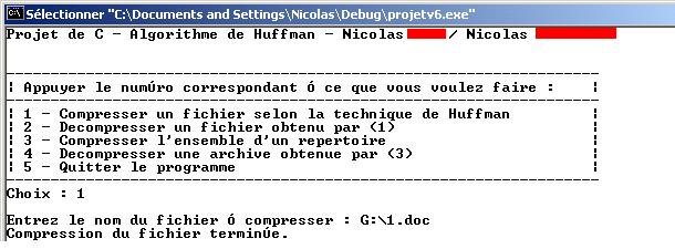Programme Huffman