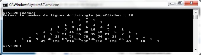 Programme de Pascal en C