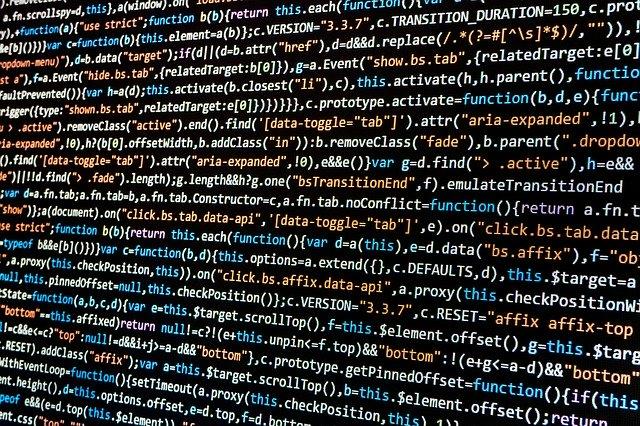 Ecran d'ordinateur avec des lignes de code
